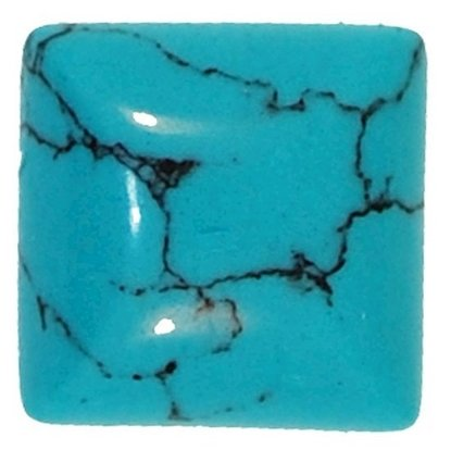 Picture of Turquoise Square Syn Cabachon 4mm
