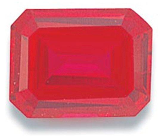 Picture of Ruby Emerald Cut CZ (7x5mm)