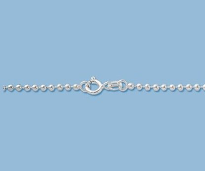 Picture of Sterling Silver Ball Chain 2mm 20 inch
