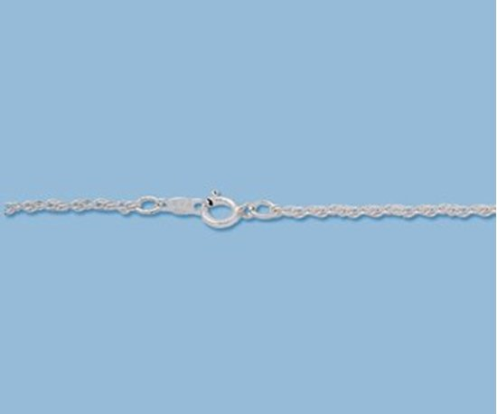 Picture of Sterling Silver Rope Chain 1.25mm 16 inch
