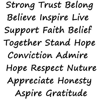 Picture of Word Stamps- Positive 1