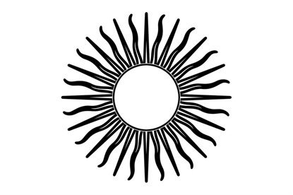 Picture of Sun Symbol Stamp