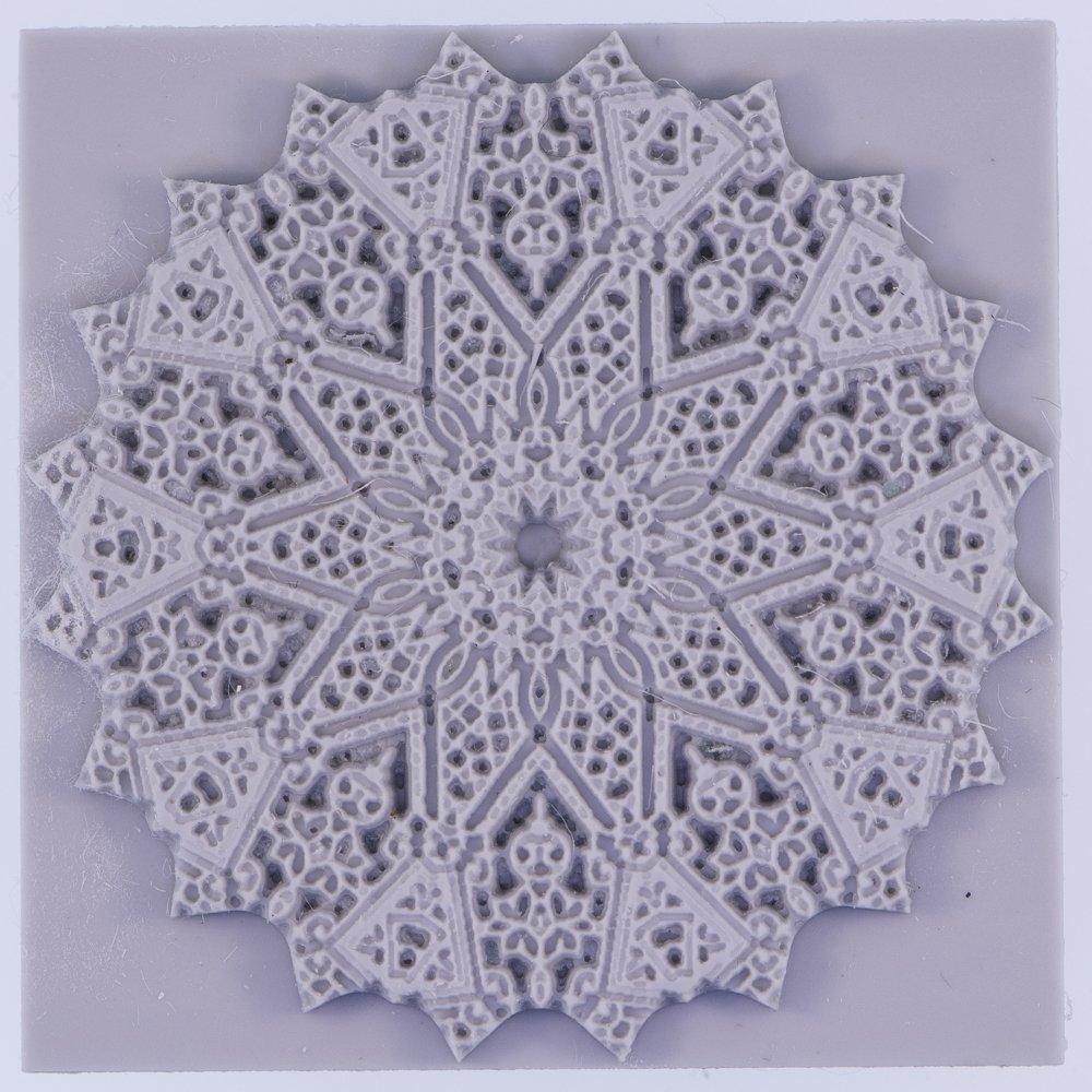 Textured mat Author/'s Texture Stamp for metal- polymer- ceramic clays Mandala ART#17 Flat texture tile Rubber Texture