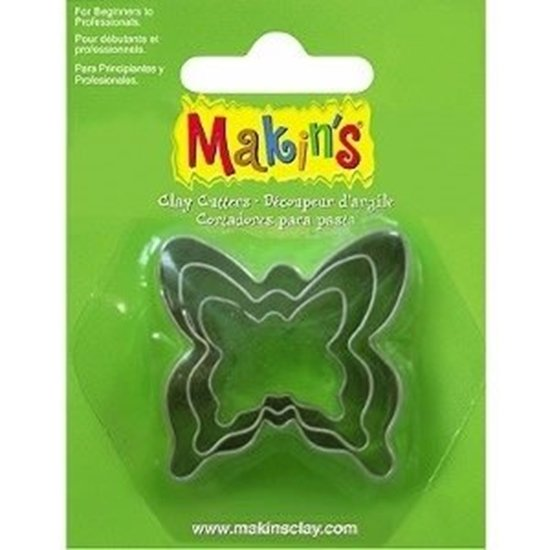 Picture of  Makins Clay Cutter 3/ set- Butterfly