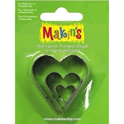 Picture of Makins Clay Cutter 3/set- Heart