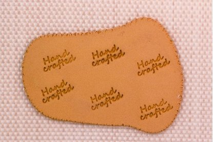 """Picture of Personalization Stamp- """"Handcrafted"""""""