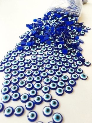 Picture of Evil Eye Round Cabochon 6mm