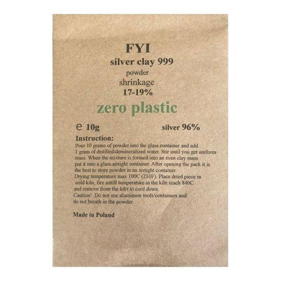 FYI .999 Silver Clay 10g (powder)