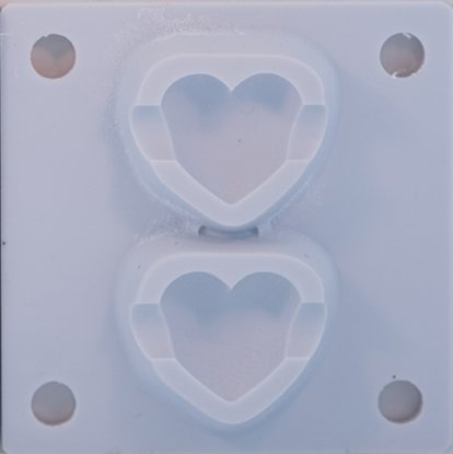 Picture of Bead Puffy Heart MoldMaster Insert