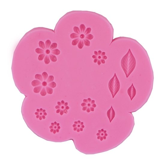 Picture of Mini Flowers & leaves elements mold
