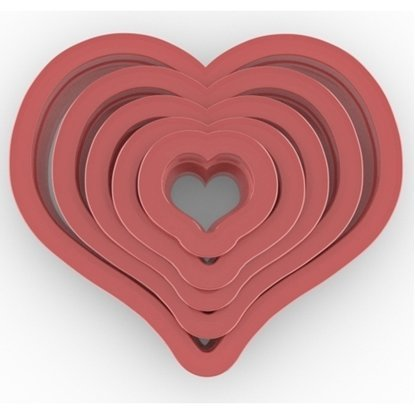 Clay Cutter Heart Set(5)