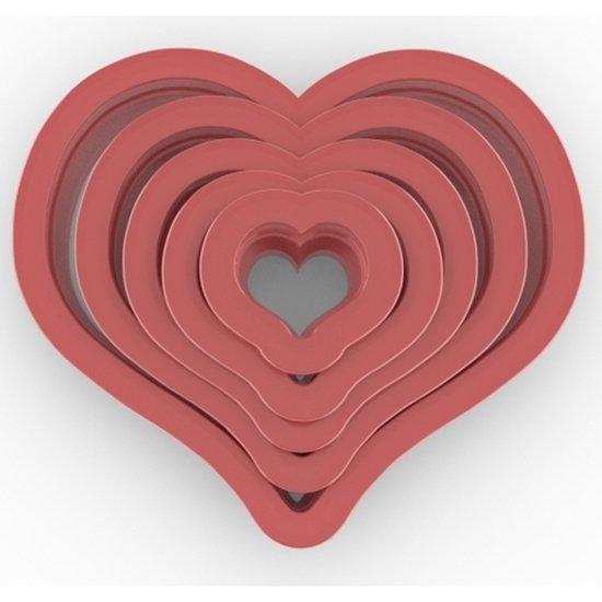 Clay Cutter Heart Set(5)