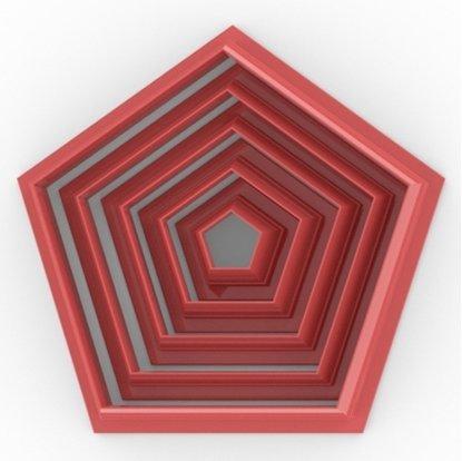 Clay Cutter Polygon Set(5)